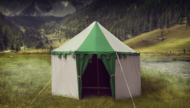 medieval round tent